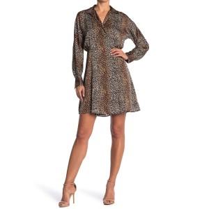 Harmon Leopard Print Shirt Dress