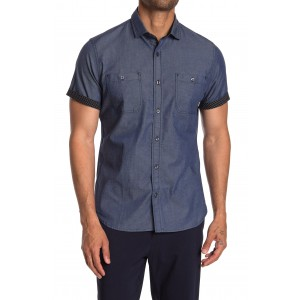 Madison Short Sleeve Button Front Shirt