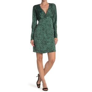 Rommily Leopard Print Mini Dress