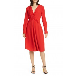 Faun Twist Front Long Sleeve Dress