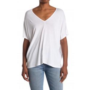V-Neck Cap Sleeve T-Shirt