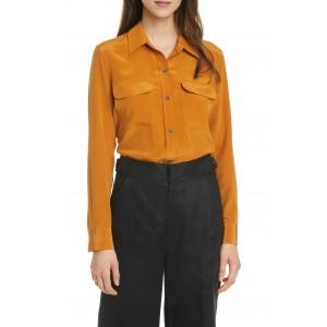 Slim Signature Long Sleeve Silk Shirt