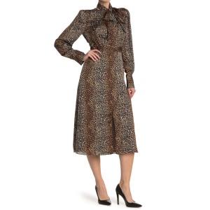 Calanne Leopard Print Midi Dress