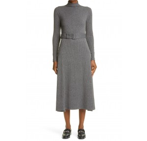Melissah Knit Long Sleeve Midi Dress