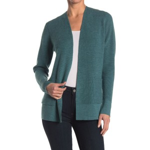Simple Open Front Wool Knit Cardigan