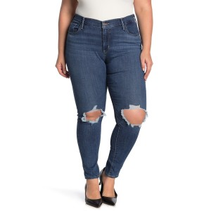 711 High Waisted Ripped Skinny Jeans