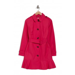 Belted Peplum Trench Coat