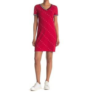 Anchor Print V-Neck T-Shirt Dress