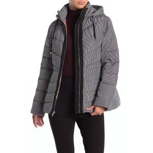 Drawstring Hood Zip Puffer Jacket
