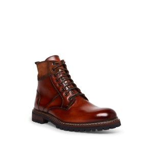 Stratus Leather Lace-Up Lug Sole Boot