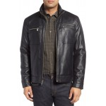 Faux Leather Zip Jacket