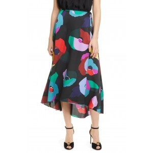 FLORAL COLLAGE MIDI SKIRT