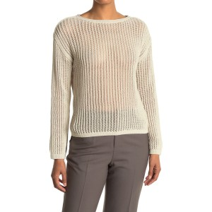 Mesh Boat Neck Sweater