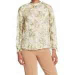 Floral Raglan Sleeve Silk Blend Top