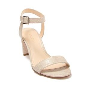 Pruce Embossed Block Heel Sandal