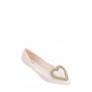 Pointy Heart Jelly Pointed Toe Flat