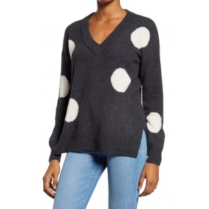 Dotted Bartlett V-Neck Pullover Sweater