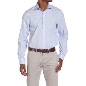Windowpane Print Regular Fit Shirt