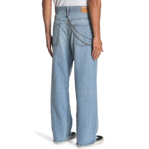 D-vided Straight Leg Chain Jeans