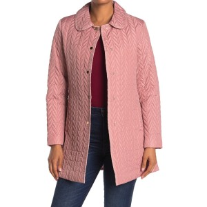 quilted snap button jacket