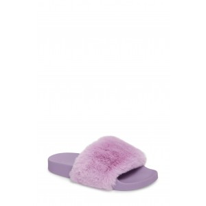 Softey Faux Fur Slide