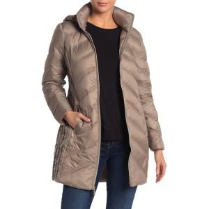 Packable Hooded Zip Down Puffer Jacket