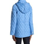 Hooded Diamond Quilted Jacket