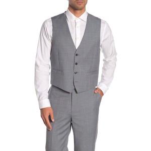 Medium Grey Twill Slim Fit Suit Separate Vest
