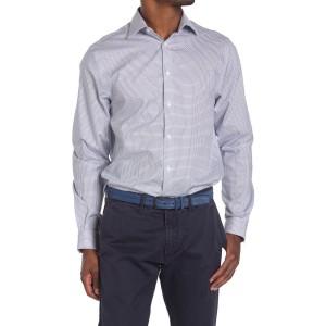 Micro Check Print Regular Fit Shirt