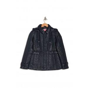 Herringbone Quilted Hooded Puffer Jacket