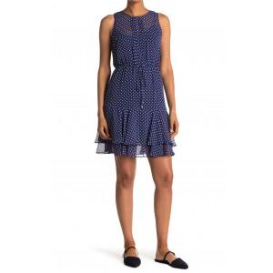 Dot Sleeveless Chiffon Dress