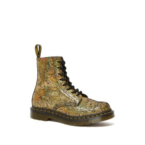 1460 Pascal Gold Crackle Boot