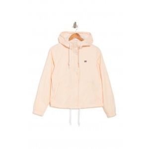 Hooded Zip Front Windbreaker Jacket