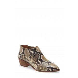 Sonia Low Leather Snakeskin Printed Chelsea Boot