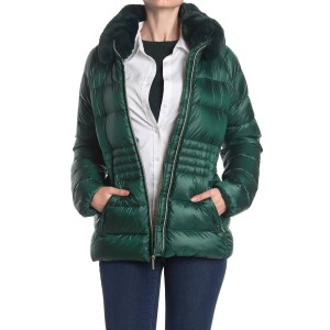 Faux Fur Trim Quilted Puffer Jacket