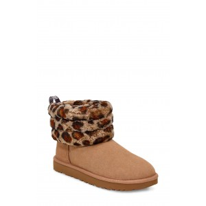 Mini Fluff Quilted Animal Print Boot