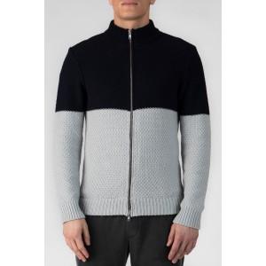 Cotton Blend Zip Up Cardigan