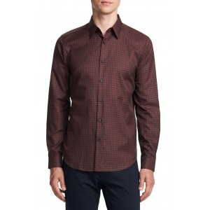 Irving Slim Fit Check Button-Up Shirt