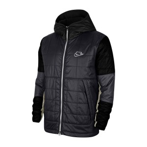 Quilted Zip Front Hooded Jacket