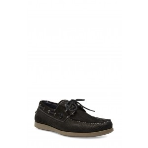 Game Snake Embossed Leather Boat Shoe