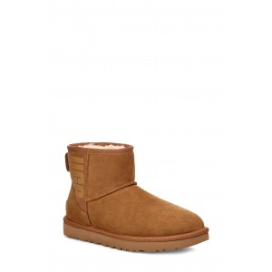 Classic Mini Ugg Rubber Logo Wool Blend Lined Boot
