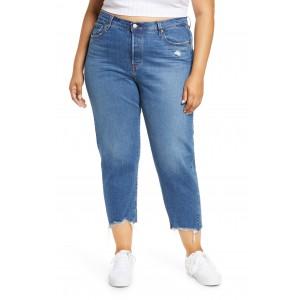 501 High Waist Crop Straight Leg Jeans