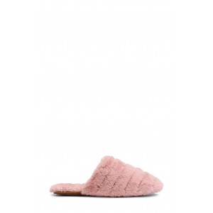 Recycled Faux Fur Quilted Scuff Slipper