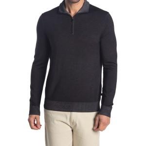 Half Zip Knit Wool Sweater