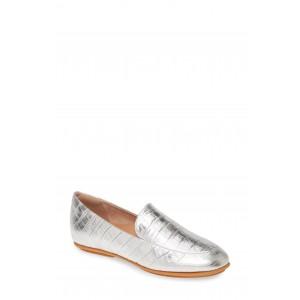 Lena Croc Embossed Loafer