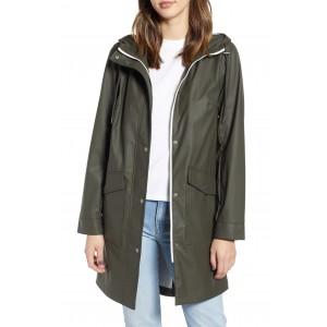 Water Repellent Lightweight Hooded Raincoat