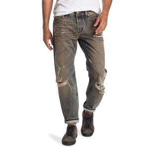 Larkee Slim Straight Distressed Jeans