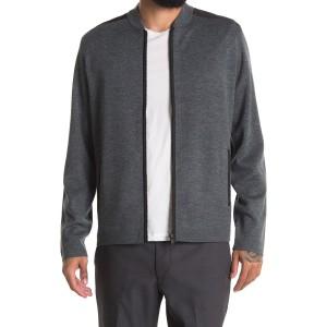 Thad Soft Luster Full Zip Wool Cardigan