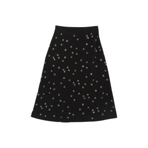 Floral Studded Skirt
