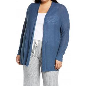 Linen & Cotton Open Front Cardigan